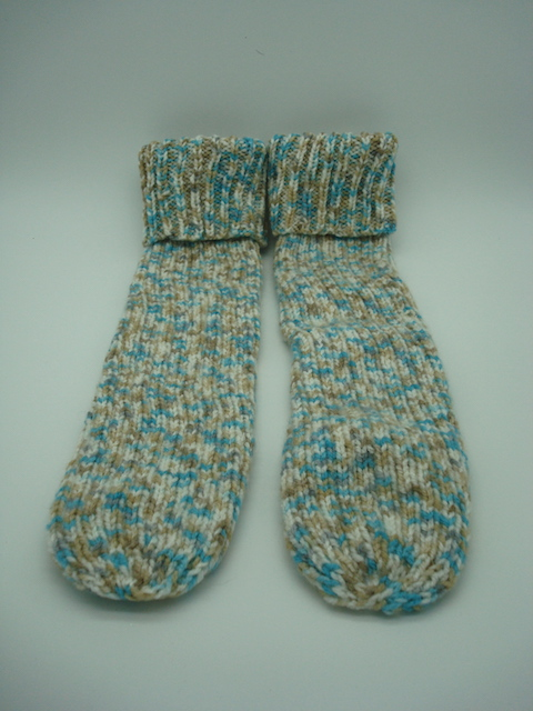 Hand Knitted Multi-coloured Socks