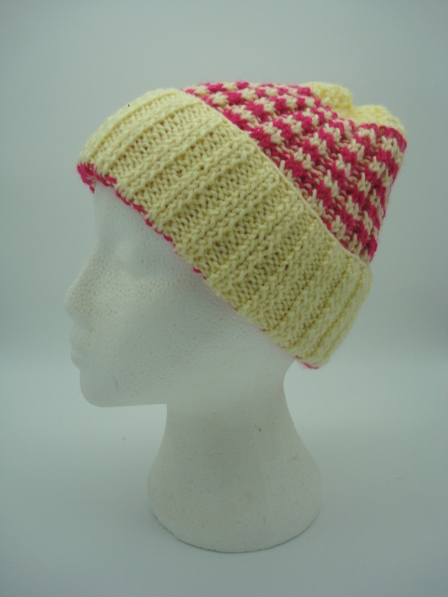 Hand Made Woollen Hat with Turn-up Edge