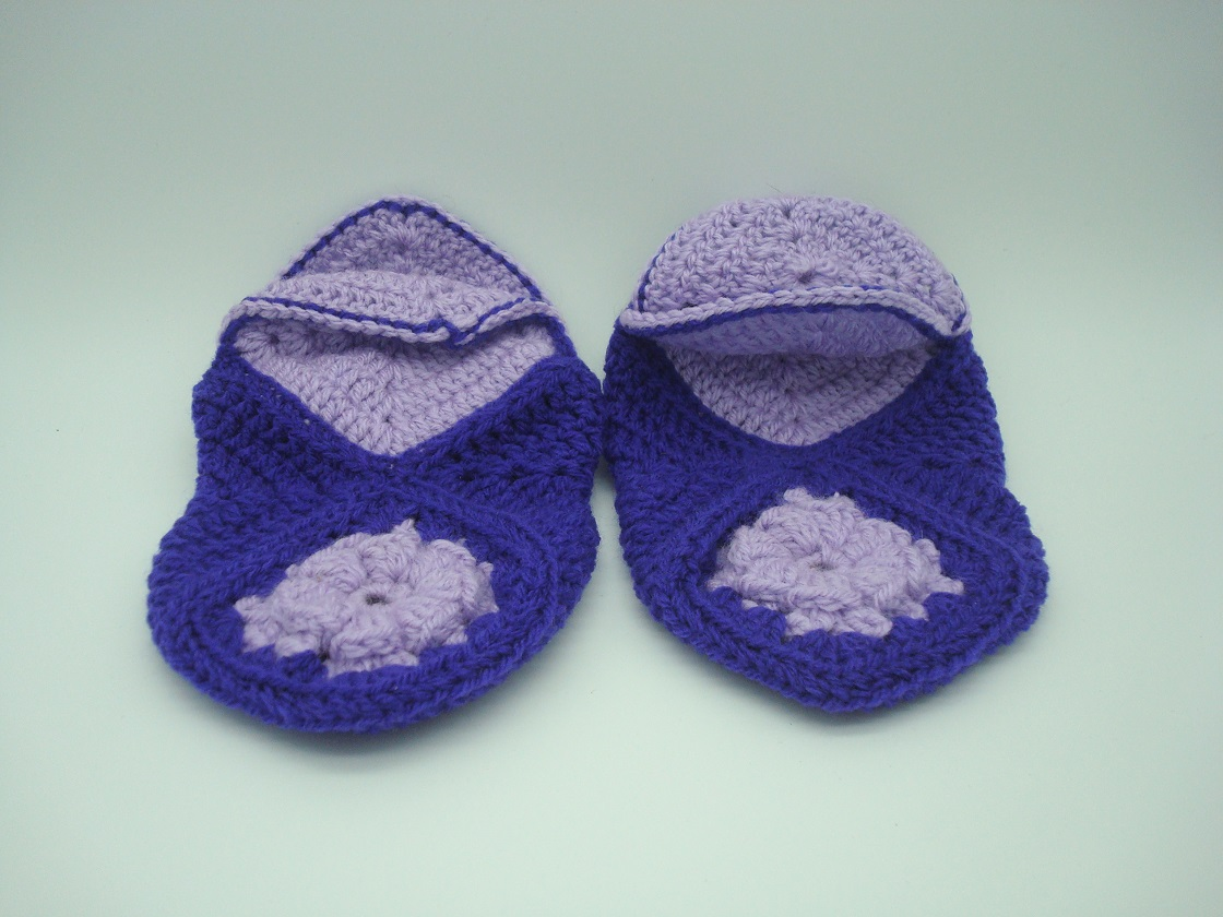 Hand Made Crotcheted Bed Slippers
